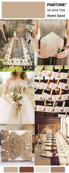 Warm Brown and Copper Shade Fall Wedding Colors for 2018 Trends #weddingcolors#weddingtrends2018