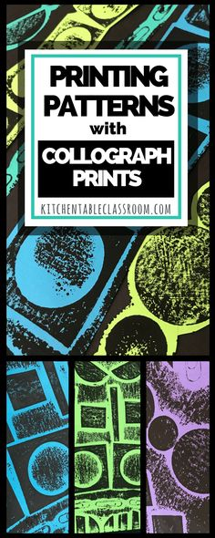 Learn patterns through this fun printmaking project. Explore how shapes and patterns are connected and see how patterns exist in nature, art, and life. Collagraph, Scrapbooking, Art Lessons Elementary, Middle School Art, Process Art, Preschool Art, Art Lesson Plans, Art Plastique, Art Activities