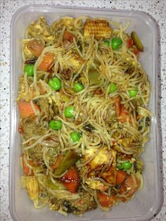 Beef & Chicken Singapore noodles |