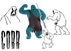 Gorr in for the new Mighty Mightor show (Hanna-Barbera) by JM Productions. Hanna Barbera, Jm Productions, Snoopy, 3d, Studio, Fictional Characters, Blue Prints, Fantasy Characters, Study
