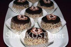 Oříškové dortíky s čokoládou