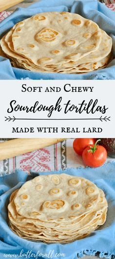 These soft and chewy tortillas are traditionally fermented for wonderful flavor and ease digestion. Made with traditional lard they are full of healthy fat, making them so tender and rich. Enjoy these tortillas as quesadillas, burritos, and wraps for all your favorite fillings. Bake them in the oven for light and crispy flour tortilla chips! #realfood #healthyfat #wisetraditions #nourishingtraditions #authentic #farmtotable #pastured #lard #ethical #fermented #sourdough #starter #tortillas