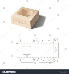 Retail Box with Blueprint Template - Korb und Kiste Cake Boxes Packaging, Flower Packaging, Paper Folding Crafts, Diy Paper, Diy Gift Box, Diy Box, Paper Box Template, Box Patterns, Packing Boxes