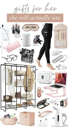 gifts for her Looking for gifts she will actually use Michelle Kehoe of Mash Elle rounded up life hack gifts: gifts that will make her life easier. This roundup includes electronics, makeup organizers, traveling accessories, storage ideas, and more! Christmas Gifts For Her, Birthday Gifts For Her, Pink Christmas, Birthday Ideas, Xmas, Best Gifts For Her, Gifts For Wife, Teenage Girl Gifts, Teen Gifts