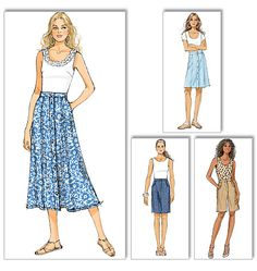 Butterick 5649 Misses skirt and shorts sewing pattern