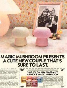 Airwick's Magic Mushroom 1982 Ad w/Coupon