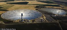 Pictured: Spain's spectacular solar power plants channelling the ...
