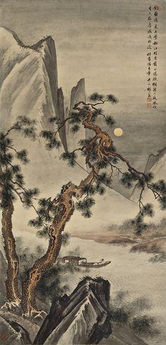 Qi Kun (1894-1940) DRIFTING IN THE MOONLIGHT