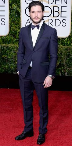Golden Globes 2015: Red Carpet Arrivals - Kit Harrington from #InStyle
