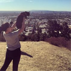 Runyon Canyon Park - beautiful views any everyone hikes with their dogs