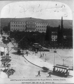 Syntagma Square and the Royal Palace in Athens Athens History, Greece History, Greece Photography, History Of Photography, Vintage Photographs, Vintage Photos, Still Picture, Royal Palace, Athens Greece