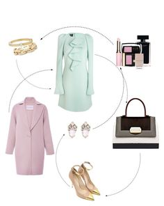 A fashion look from November 2015 featuring green color dress, pink wool coats and patent leather pumps. Browse and shop related looks. Narciso Rodriguez, Carolina Herrera, Slate, Balmain, Shoe Bag, Polyvore, Stuff To Buy, Shopping, Shoes