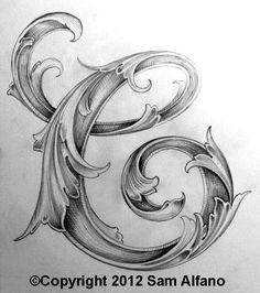 Sam Alfano, engraver - Leaf Script C.