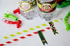 Ugly Christmas Sweater Party Printable Straw Flags