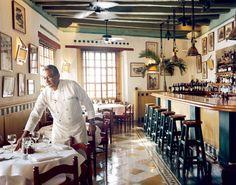 La Vitrola, a Cuban La Vitrola in Cartagena. Wonderful food and a great local band the night we dined there.