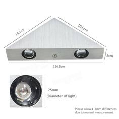 Modern 3W LED Triangle Wall Light Restroom Bedroom Wall Sconce Lamp Fixture