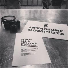 #Invasionecompiuta! #InvasioniDigitali #tipoteca #liberiamolacultura