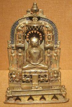 Jain shrine from Vikrama Samvat in western India, dated 1459 CE, bronze, HAA.JPG
