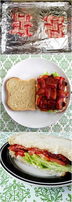 How To Make Classic BLT Sandwich Ingredients 3 strips of bacon 1 oz. of whiskey 1 tsp. brown sugar Instructions Set oven to Subway Sandwich, Deli Sandwiches, Soup And Sandwich, Sandwich Sides, Sandwich Recipes, Blt Recipes, How To Make Sandwich, Yummy Recipes, Picnic Foods