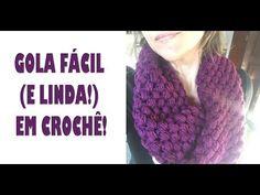 Loom Knitting, Knitting Patterns, Crochet Patterns, Crochet Scarf Youtube, Popcorn Stitch, Crochet Videos, Le Point, Crochet Shawl, Neck Warmer