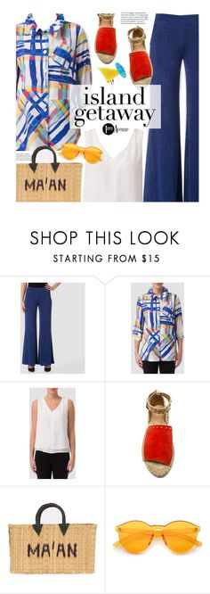 """""""Chic Island Getaway (Joseph Ribkoff Spring Collection)"""" by beebeely-look ❤ liked on Polyvore featuring Joseph Ribkoff, Raye, TIKI, MA'AN, casual, vacation, islandgetaway, premiereavenue and JosephRibkoff"""
