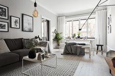 Jurnal de design interior: Amenajare în gri într-un apartament de numai 41 m²