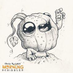 Pumpkin Zombie! ##morningscribbles #halloween #october