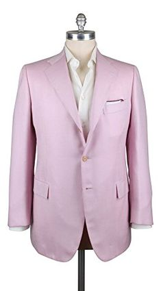 General Info – Length: Regular – Drop: Drop 7 Fabric Info & Styling – Color: Pink – Pattern: Striped – Pattern Color: White – Fabric Content: 93% Cashmere, 7% Silk – Fabric Weave: Fancy Weave – Fabric Weight: Medium – Venting: Double...  More details at https://jackets-lovers.bestselleroutlets.com/mens-jackets-coats/suits-sport-coats/sport-coats-blazers/product-review-for-new-cesare-attolini-pink-sportcoat/