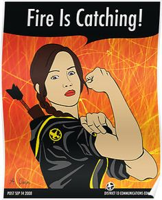 "Katniss the Riveter  (""Katniss the Mockingjay"" by Rachael Thomas)"