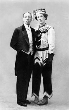 Igor Stravinsky and Vaslav Nijinsky 1911, Ballets Russes   ©Getty Images (vogue.it)