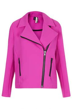 Love this fun biker jacket in pink!