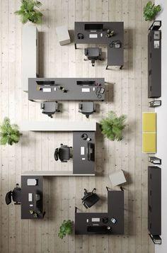 Open Space Office, Bureau Open Space, Open Concept Office, Office Spaces, Corporate Office Design, Open Office Design, Industrial Office Design, Office Design Concepts, Corporate Offices