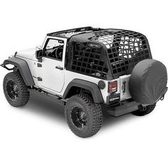 Smittybilt C. RES System Cargo Net for Jeep Wrangler 2007-2015 JK 2 Door Black, Parts & Accessories, Car & Truck Parts