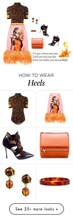 """""""Burn Your Eyes"""" by nisak-tf on Polyvore featuring Givenchy, Prada, Nicholas Kirkwood, Yves Saint Laurent, Orciani, L. Erickson, Fire and element How To Wear Heels, Nicholas Kirkwood, Givenchy, Yves Saint Laurent, Prada, How Are You Feeling, Fire, Fancy, Eyes"""