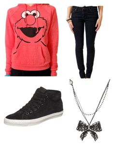 """""""Elmo"""" by namoih on Polyvore featuring Forever 21 and Betsey Johnson"""