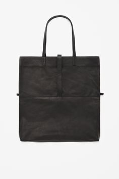 Soft leather shopper COS