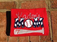 Baseball Mom Appliqué Shirt by ahSEWcute on Etsy, $28.00