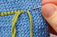 The Yarn Loop: The Knitter, Simply Knitting and Knit Today Knitting Help, Loom Knitting, Knitting Stitches, Embroidery Stitches, Hand Knitting, Threaded Running Stitch, Knitting Patterns, Crochet Patterns, Yarn Crafts