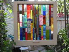 stained glass in old window frames