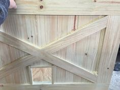 Rustic Barn Door Style Baby/ Pet gate w/special by LoNineDesigns