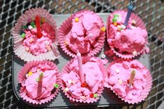 The Imagination Tree: Pinkalicious: Pink Cloud Dough Cup Cakes! This is great and goes along with the Pinkalicious book cant wait to read with my girls. Craft Activities For Kids, Preschool Ideas, Summer Activities, Learning Activities, Kids Crafts, Messy Play, Messy Art, Cloud Dough, Imagination Tree