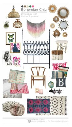 Magnificent Bohemian Chic / Designing Dawn — Decorating with texture and pattern on Remodelaholic.com  The post  Bohemian Chic / Designing Dawn — Decorating with texture and pattern on Remodel…  ap ..