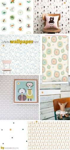 Lovely #pastel wallpaper #kids   Blog kinderkamerstylist