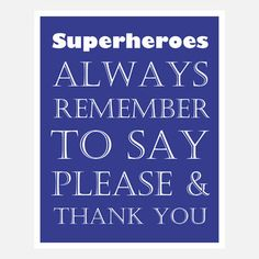 Superhero Please And Thank You now featured on Fab.