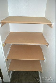 7 Simple Steps to Create Built-In Closet Storage. Made some extra shelves in Phil's pantry and they turned out great!