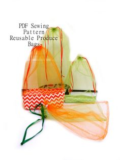 Reusable Produce Bags - Waste Free PDF Sewing Pattern in 3 styles | YouCanMakeThis.com
