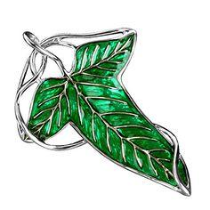 Herr der Ringe Elven Blatt Brosche mit Kette Halskette