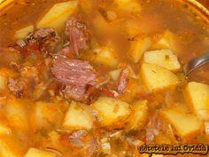 Ciorba de cartofi cu afumatura. Olteneasca Soup Recipes, Recipies, My Favorite Food, Favorite Recipes, Romanian Food, Romanian Recipes, Good Food, Yummy Food, Recipe Boards