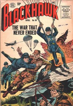 Comic Book Cover For Blackhawk Issue #99 Quality Comics