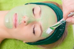 Keep you skin clear and glowing with some great acne recipes you can make from home. #acne